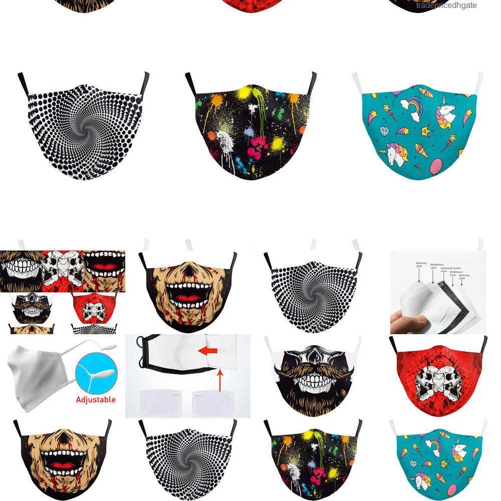 Itália DHL Máscara Impressão Skull Spain Manter Bandeira Fighting Face Máscaras Tecido Adulto Protetor PM2 1IVG