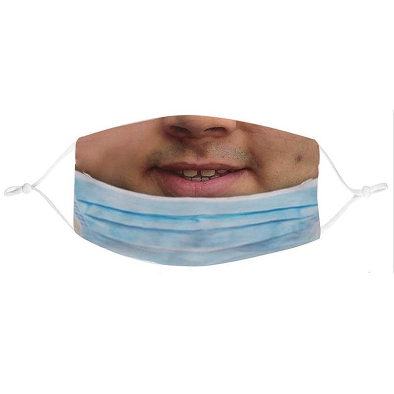 얼굴 마스크 남성 여성 면화 재미있는 가면 성인 방진 장난 꾸러미 인쇄물 facemask 표현 보호 마스크 wwa246
