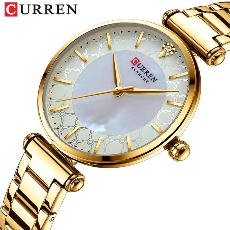 Relojes para mujer Moda Reloj de cuarzo con pulsera de acero inoxidable Reloj fino Mujer Montre Femme Relojes de pulsera