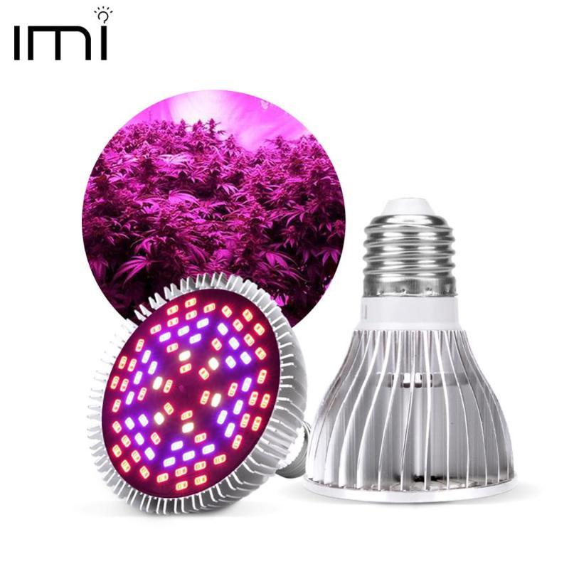전체 스펙트럼 CFL LED 가벼운 가벼운 램프 다 50W 80W E27 실내 식물 램프 꽃 수경 시스템 IR UV 가든 110V 220V 조명
