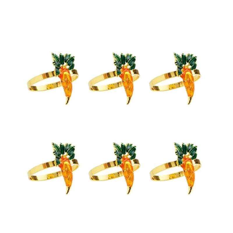 PCS Serviette Ring Nette Karottenform Home Schnalle für El Geschirr Dekoration Ringe