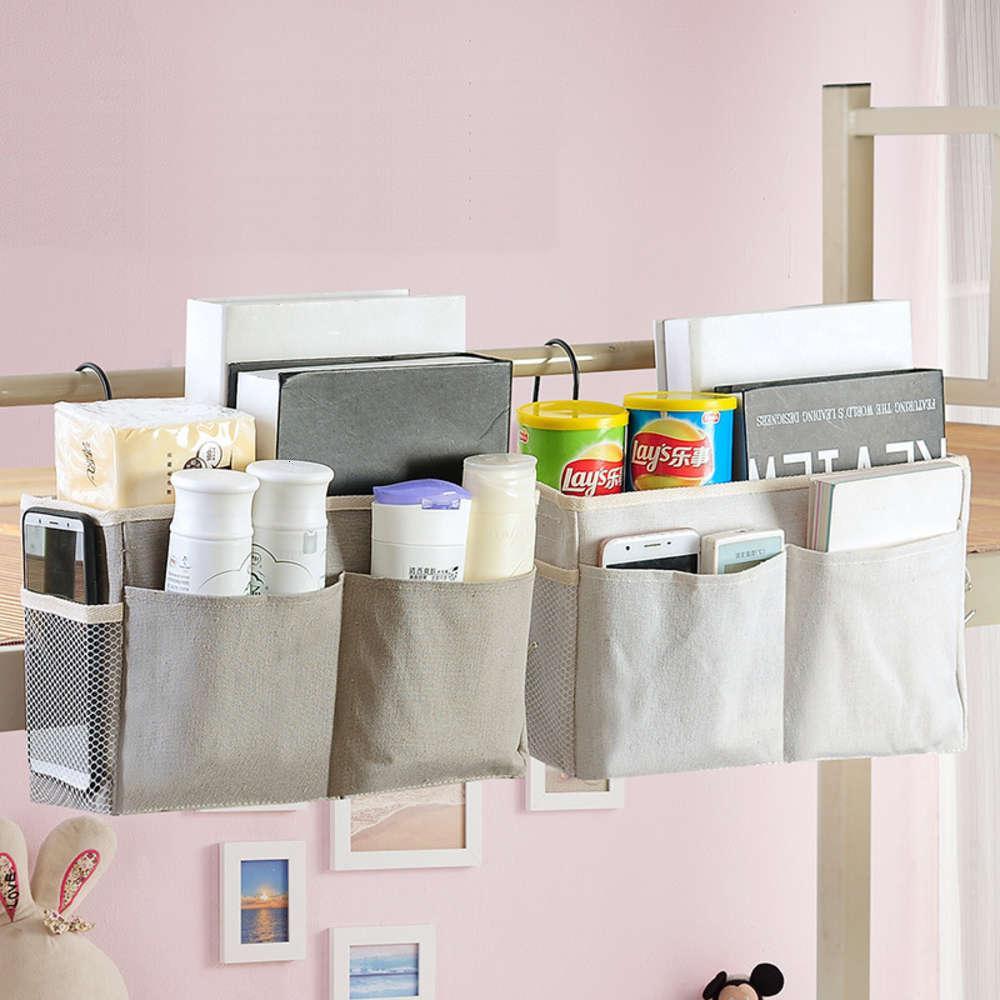 Dormitorio Almacenamiento de noche Colgando Canasta Estudiante Dormitorio Bolsa de almacenamiento Algodón Ropa de cama Art Bag Schooling Bag