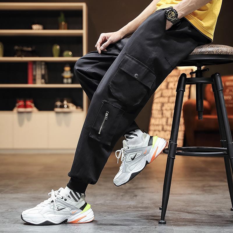Pantalones para hombres 2021 nuevos pantalones de pantalones de primavera y otoño.
