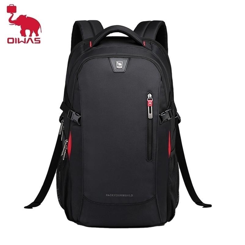 Oiwas impermeável Oxford Moda Mochila Masculina Bolsas Laptop Sacos Casuais Student Schoolbag Travel Grande Capacidade Saco para Adolescentes Mulheres 210320