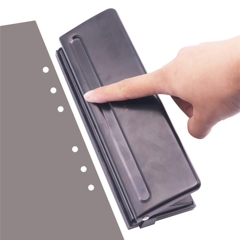 Binders 1 Pcs 6 Holes Puncher Standard Punch Office Binding Supplies Student Stationery Equipment Good Tool