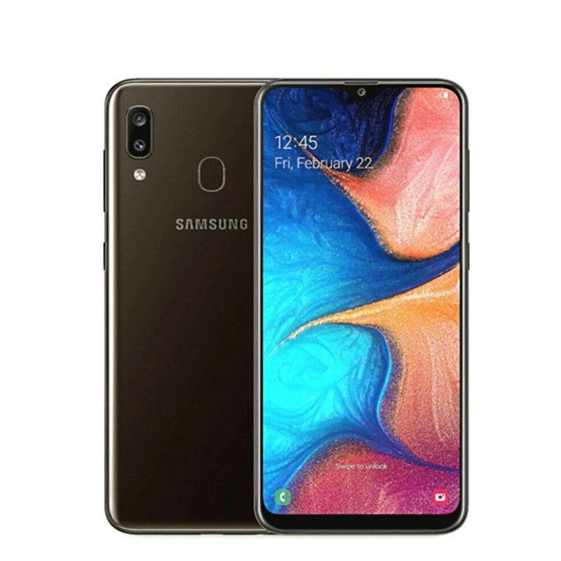 Разблокированный оригинальный Samsung Galaxy A20E 4G LTE Мобильные телефоны 5.8 '' '3GB + 32GB Двойная камера Exynos 7884 Android Сотовый телефон смартфона Android