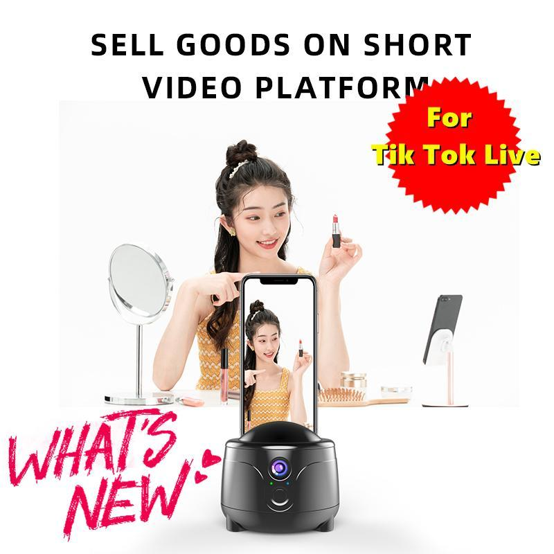 360Argle Intelligent Tracking Pan Tilt Live Sport Camera Staffa Telefono Base Treppiede per Samsung Smartphone Xiao MI Heads