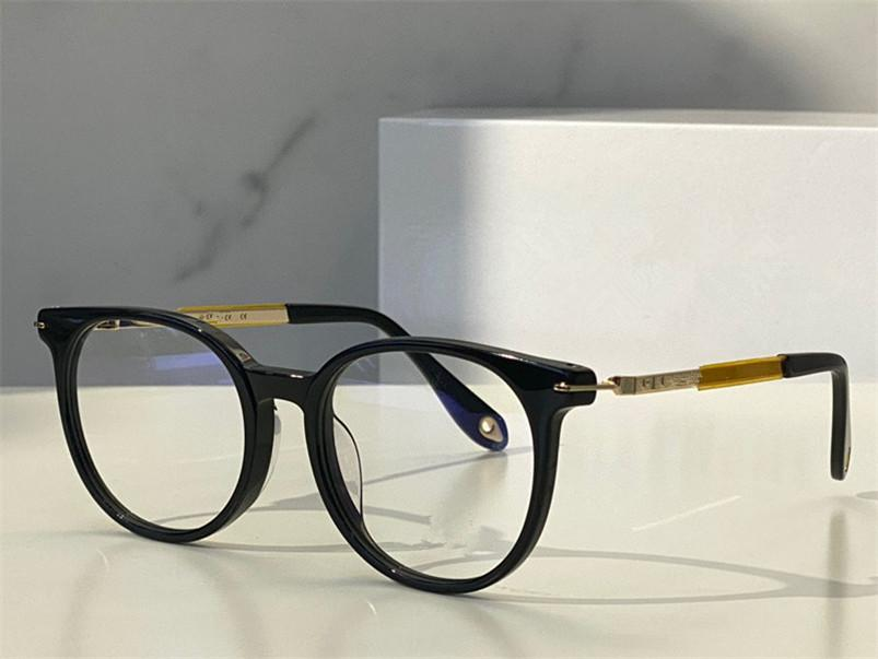 Erkekler ve Kadınlar için Optik Gözlükler Retro Tarzı 0050 Anti-Mavi Işık Lens Oval Plaka Çerçeve Kutusu