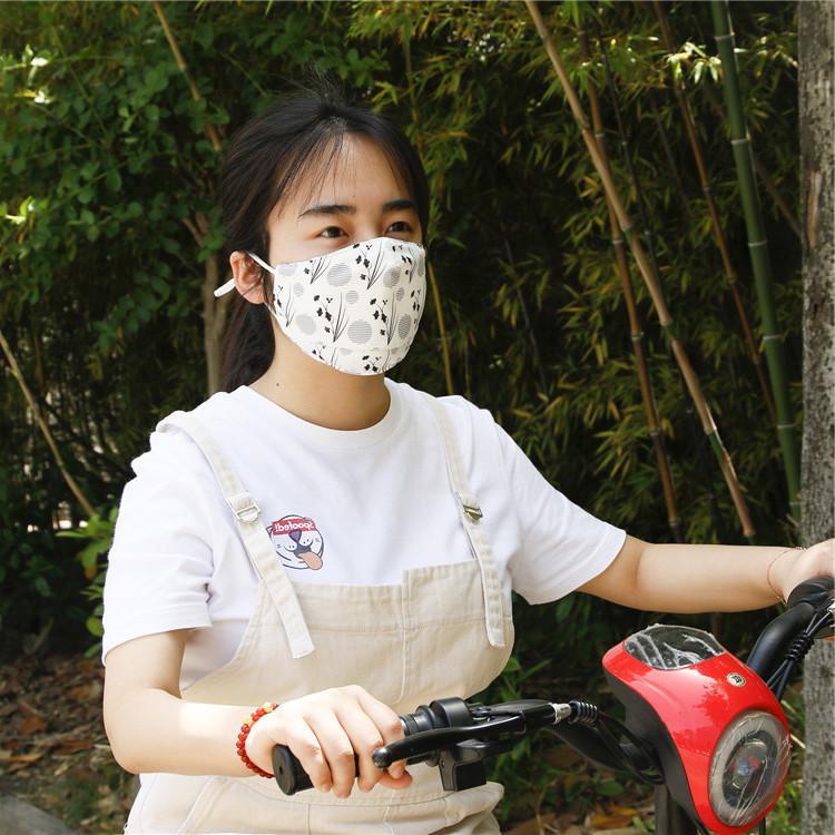 Verão ao ar livre com elemento filtro PM2.5 Impressão de máscara de equitação