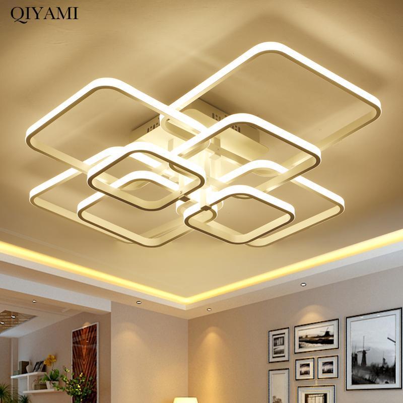 라운드 / 사각형 모양의 거실 침실 홈 AC85-265V 현대 LED 천장 조명기구 램파 다리 등기구 조명
