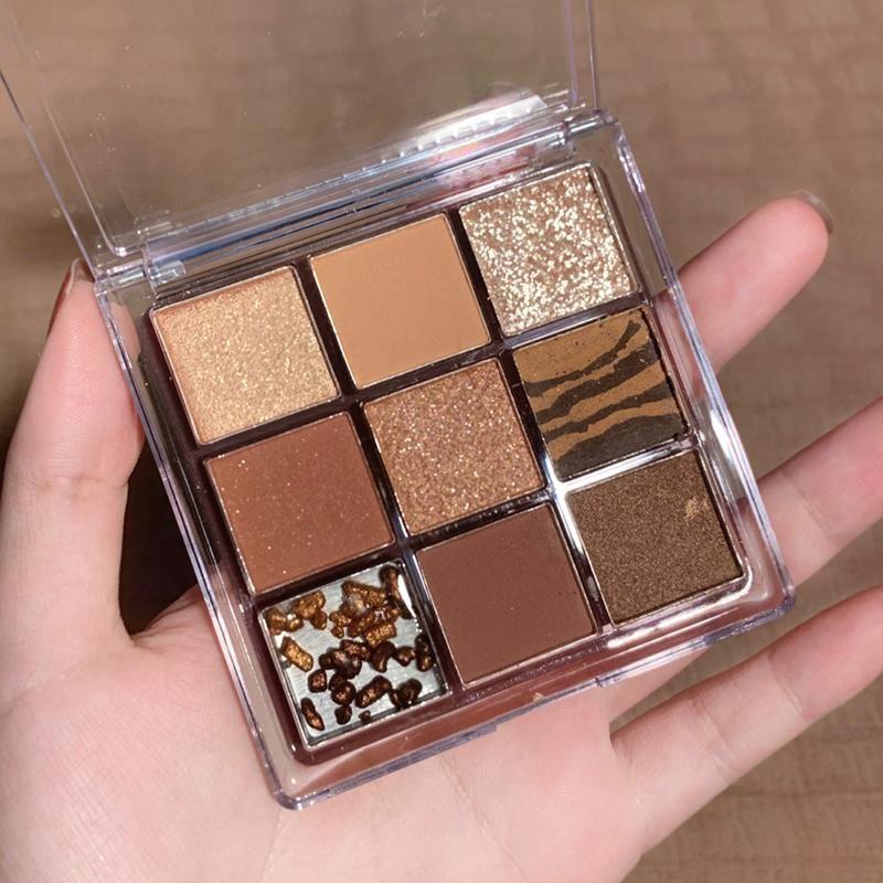 Paleta de festa paleta 9 cores shimmer pigmentado sombra sombra maquiagem cosmética tslm1