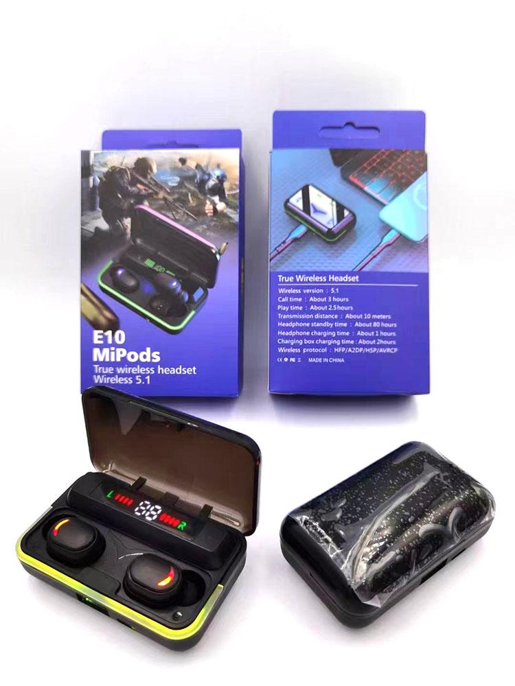 Drahtlose Bluetooth-Ohrhörer-Marke TWS1 BS-Mini-Sport-Headset-Stereo-In-Ear-Ohrhörer-Ohrknospen mit Charing-Box für Smartphone