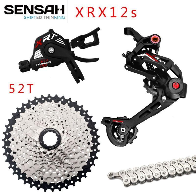 دراجة derailleurs sensah xrx mtb 1x12 مجموعة سرعة مجموعة M9100 M8100 الدراجة الجبلية تحول + كاسيت 50T 52T YBN12 سلسلة