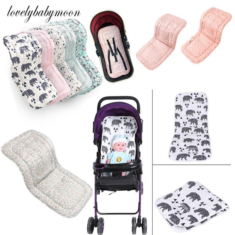Baby Stroller Seat Cotton Comfortable Soft Child Cart Mat Infant Cushion Buggy Pad Chair Pram Car Born Pushchairs Accessories Parts &