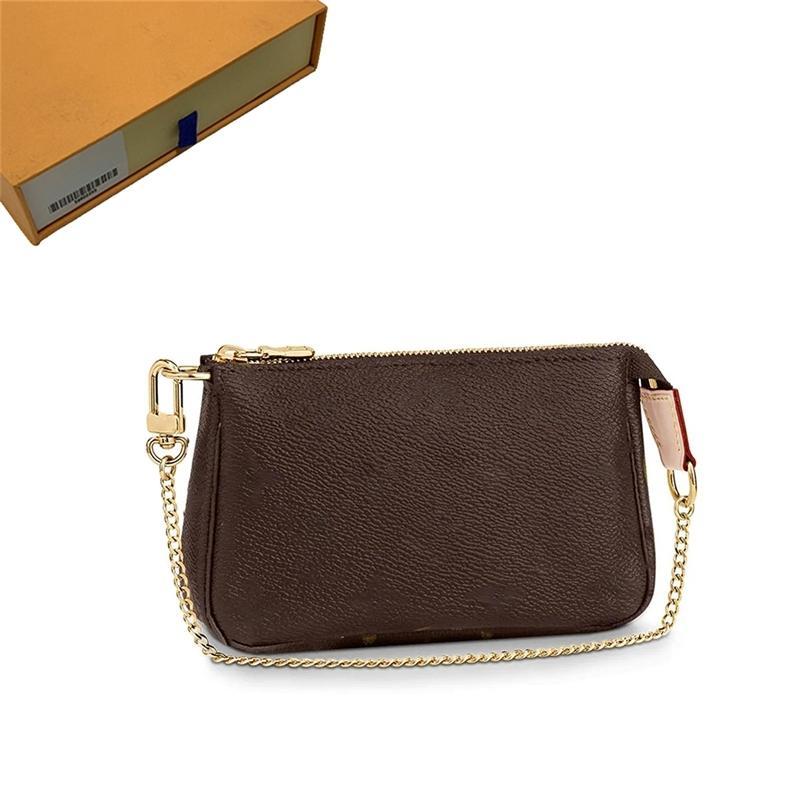 Portefeuille porte-monnaie bandoulière bandoulière bandoulière sac à bretserie porte-bagages sacs concepteurs de concepteurs de concepteurs luxueux titulaires de carte femmes sacs de pièces de monnaie carte mini wqtc