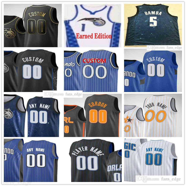Özel Baskılı 50 Cole Anthony Basketbol Formaları Wendell 34 Carter Jr. Otto Porter Aaron 00 Gordon Evan 10 Fournier Erkek Kadın Gençlik Gömlek