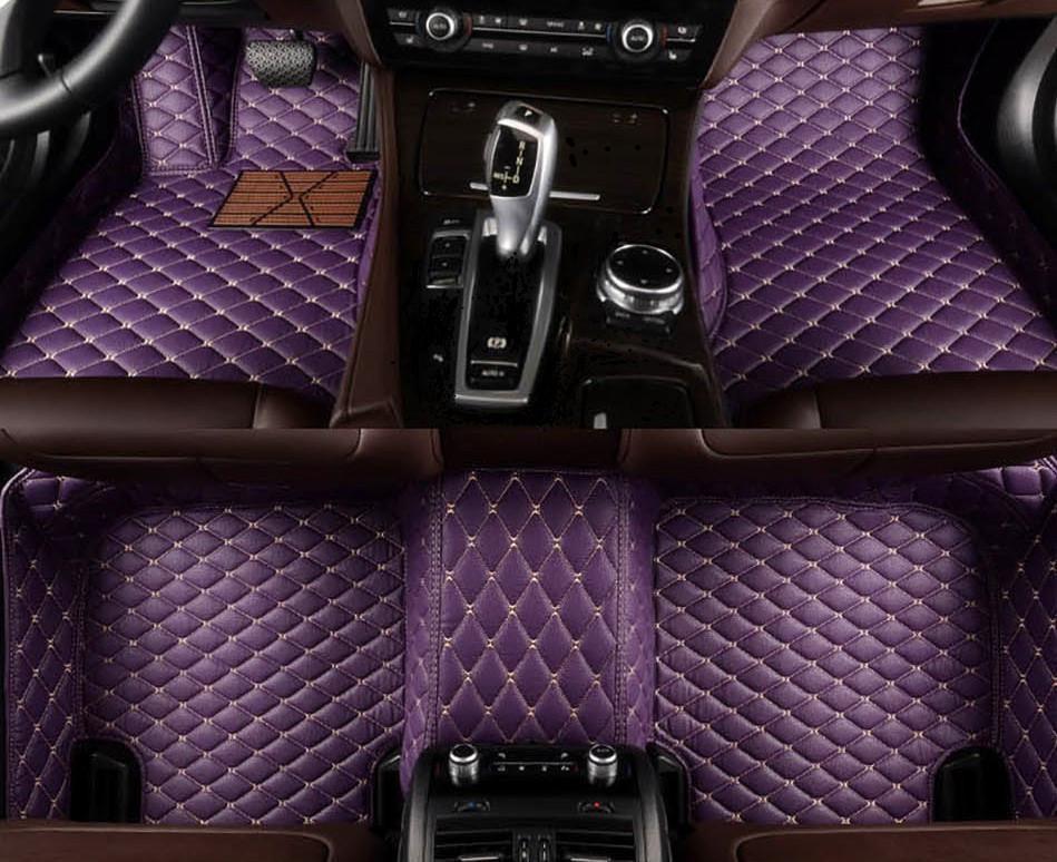 Tapis de plancher de voiture à 5 places personnalisés pour Mercedes B-Class W245 W246 W247 B-Klasse B180 B200 Boxer 40 Poche de téléphone de tapis