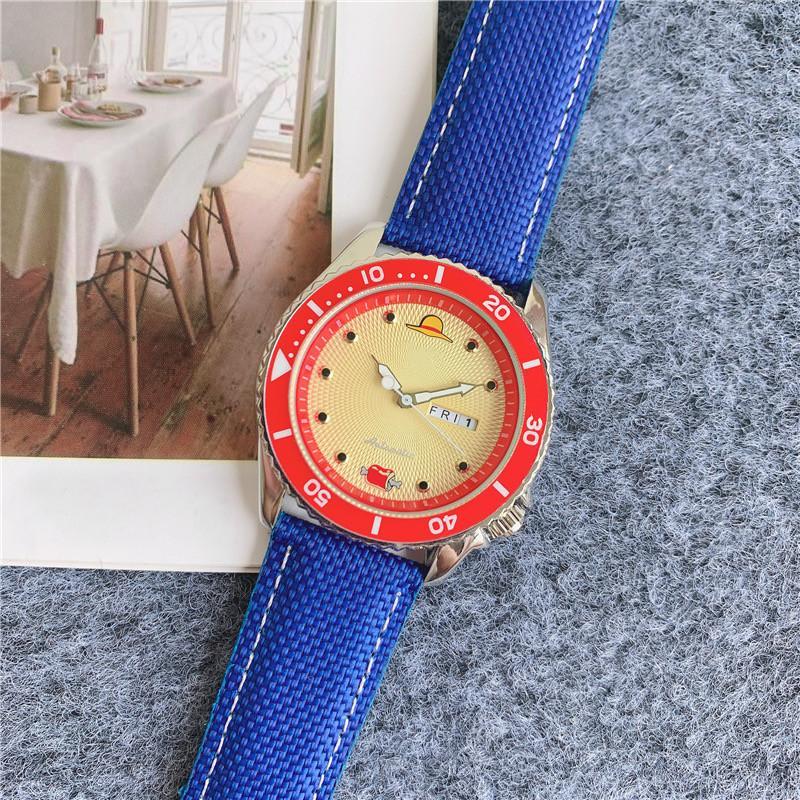 Fashion Men's Watch Quartz Movement Dual Calendar Cartoon Design Waterproof Wristband