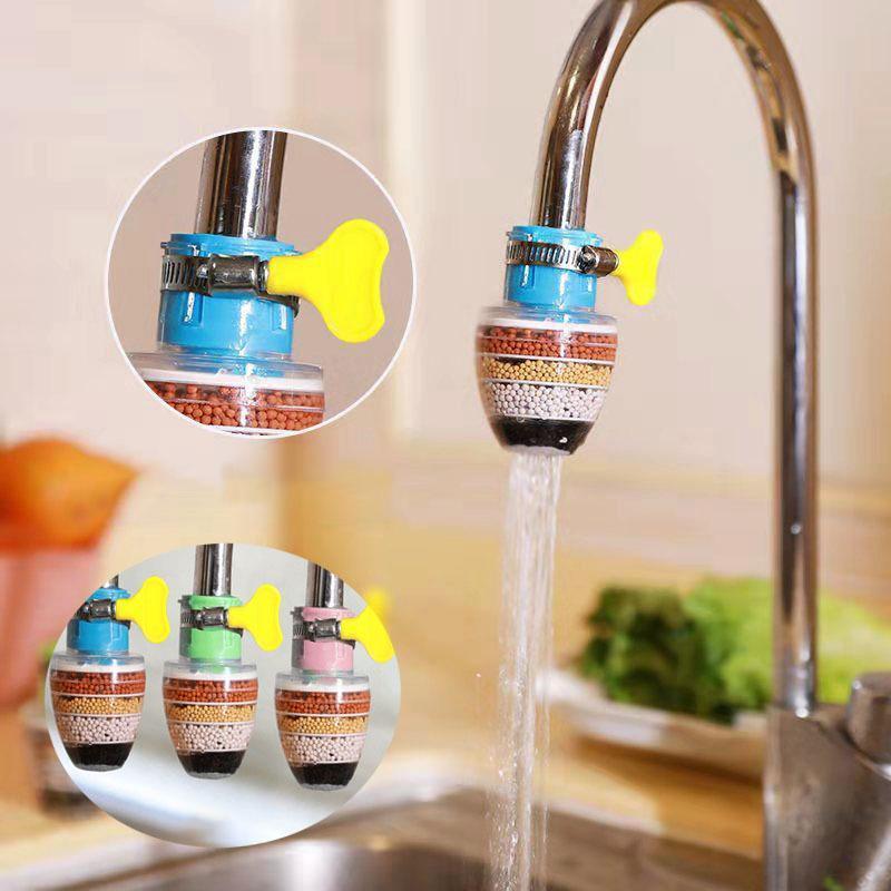 Rubinetti da cucina 1 PZ Filtro dei rubinetti Accessori del filtro del rubinetto Purificazione dell'acqua anti-spruzzata Risparmio dell'acqua anti-fuoriuscita per il dropship del rubinetto