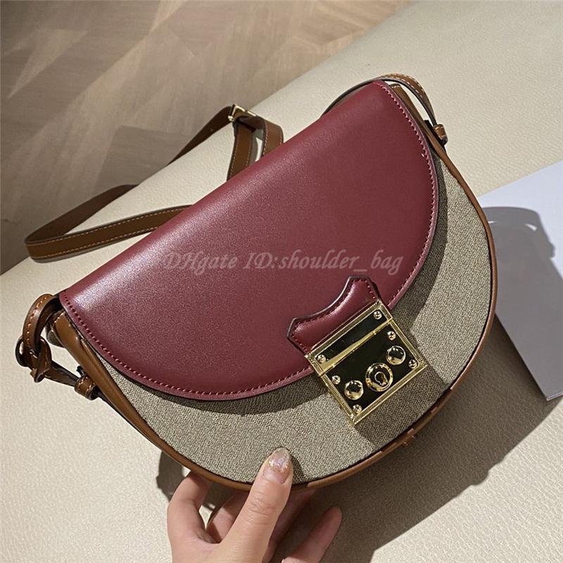 2021 luxurys designers cadeado meia lua mulheres sacos de ombro bolsa bolsa bolsa carteira crossbody sacola sela bolsa bolsas bolsas bolsas de bolsas de bolsas de bolsa