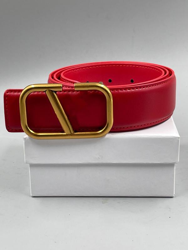 Cintura da uomo Designer Black Red Womens Luxury Classic Casual V Fibbia Fashion Cinture in pelle con regalo bianco