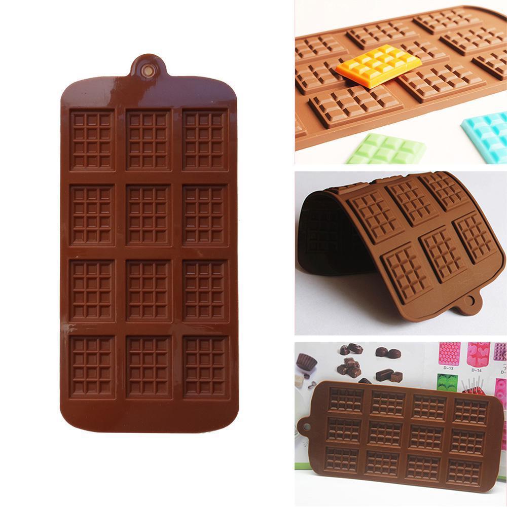 Silicone mini cioccolato blocco barra muffa muffa vassoio di ghiaccio torta decorazione di cottura torta gelatina caramella strumento stampi fai da te utensile da cucina DHE6327