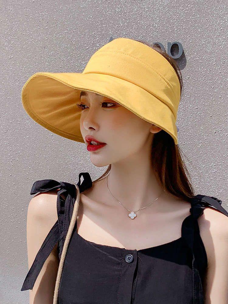 Cap Sun Женская защита Летняя складная шляпа