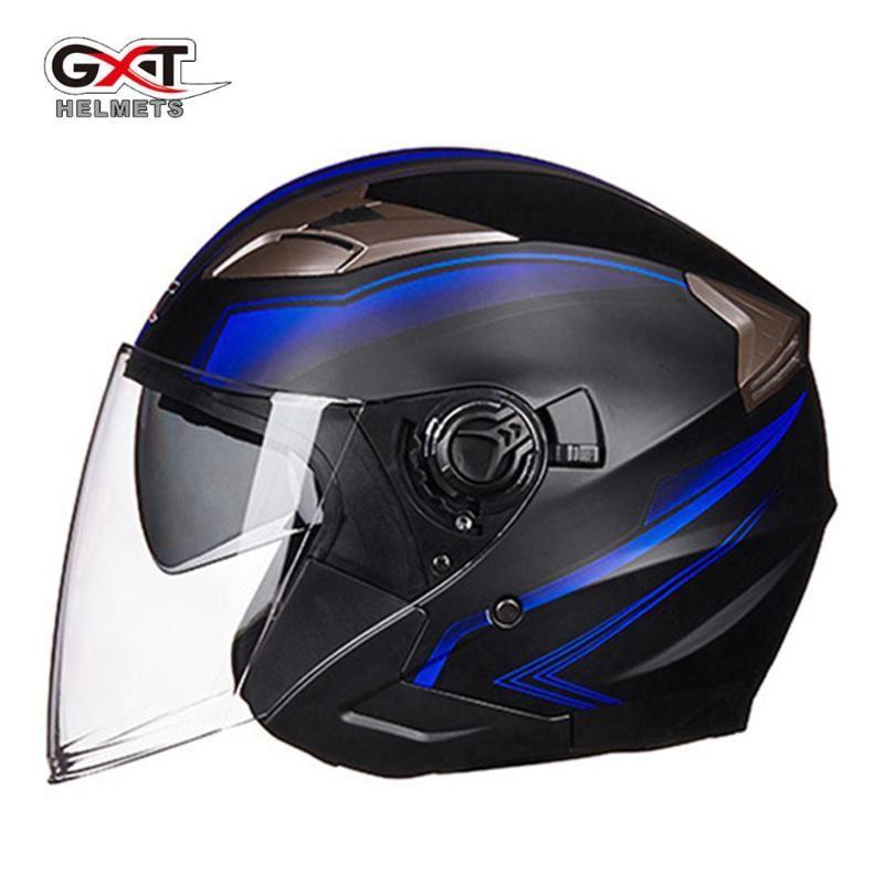 Motorradhelme GXT Helm Doppellinse Casco Moto Full Face Motorrad Electric Safety Casque für Männer 11