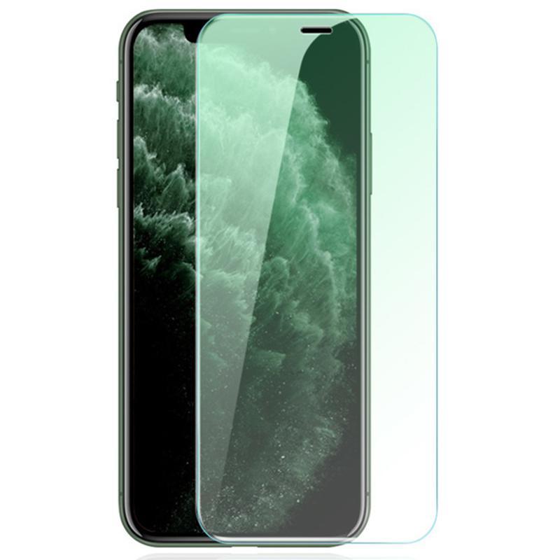 Green Light Protect Olhos 2.5D Protetor de Vidro Temperado Protetor Protetor de Proteção Protetor Cobertura Cobertura Protetor para iphone 13 Pro Max 12 Mini 11 XS XR X 8 7 6 6 PLUS SE