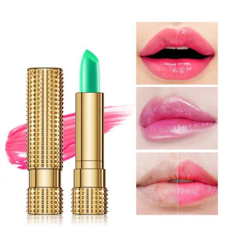 Kuss Schönheit 100% Natürliche Aloe Vera LiP Balm Temperatur Ändern Farbe Roter Lippenstift Feuchtigkeitscreme Nahrhafte Lippen Pflege Glanz Lipgloss
