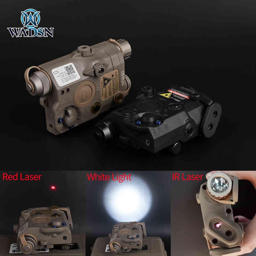 Versione da WADSN UHP Airsoft La-5c PEQ 15 Red Dot Laser Sight Torcia Flashlight IR Lazer PEQ LA5 Softair Hunting Gun Gun Light per 20mm 210322