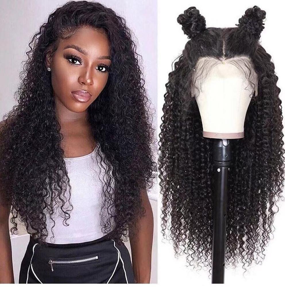 Швейцарские кружева извращенные вьющиеся фронтальный парик для чернокожих женщин Девственные человеческие волосы поставщики волос