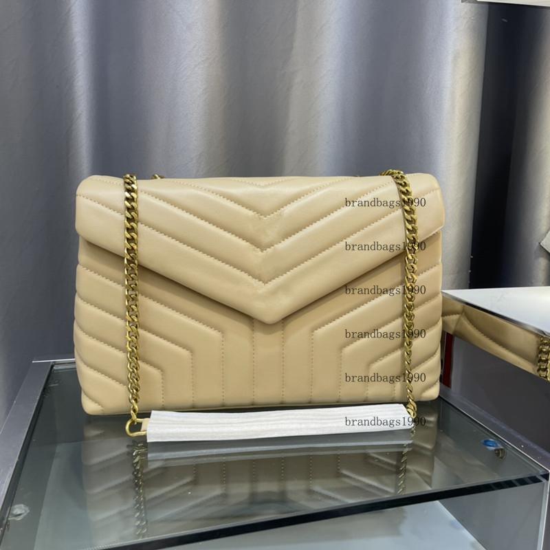 Designer Handtaschen Square Fat Loulou Kette Tasche Weiche Echtleder Damen Tote Große Kapazität Umhängetaschen Hohe Qualität Quilted Messenger Handtasche