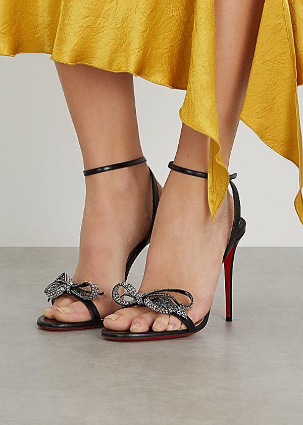 المرأة الأزياء الأحذية الصيف صندل الأحمر أسفل عالية الكعب الجوهرة الملكة براءات الصبر الصنفرة ستراس القوس المرأة حزب فستان الزفاف الأحذية مع مربع