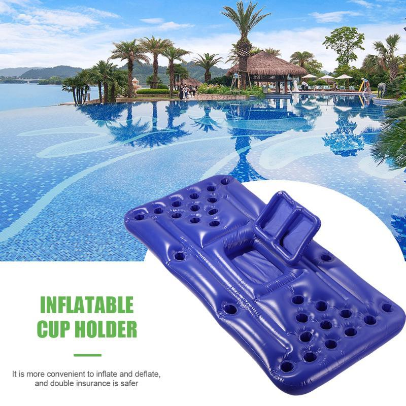 Inflatable Floats & Tubes Beer Table 28 Cup Pool Bar Game Drink Cooler Float Holder Air Mattress Water Food