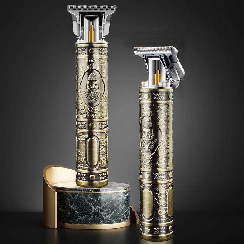 Trimmador de tosquiador de cabelo elétrico para homens recarregáveis barba barbear máquina de corte USB carregando com pacote de varejo