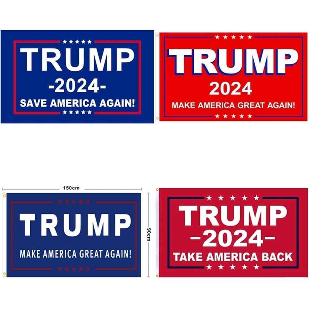 90 * 150cm Trump 2024 bandera de la elección Impresión digital Donald Trump Camp Camp Camp Campaña Haz de América GRANDE AGULAR A LA BANDERA DE LA Decoración G31702