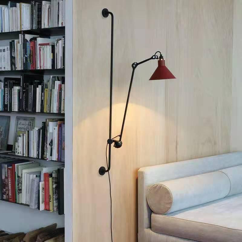 미국 복고풍 인테리어 조명 로터리 LED 벽 램프 산업용 큰 크기 120cm 금속 스프레이