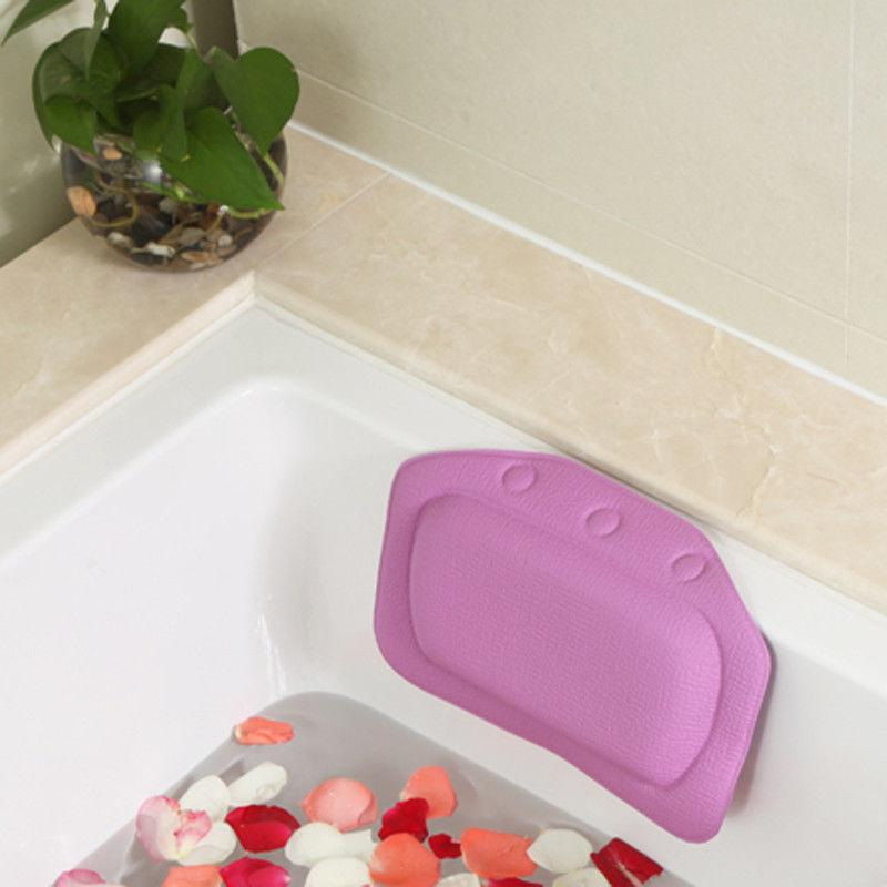 Bath Pillow PVC Foam Soft Bathroom Spa Baths Cups Head Neck Rest Pillows Toilet Supplies Supplie Eco-Friendly
