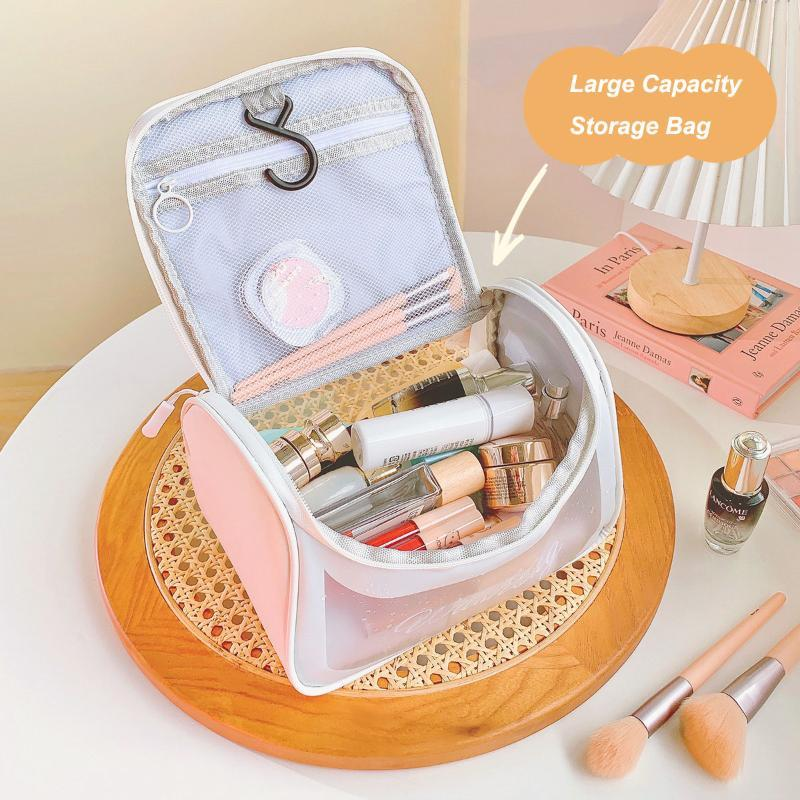 Cosmetic Bags & Cases Simple INS Portable Makeup Bag Large Capacity Transparent Wash Korea Travel TPU Waterproof Cosmetics Storage