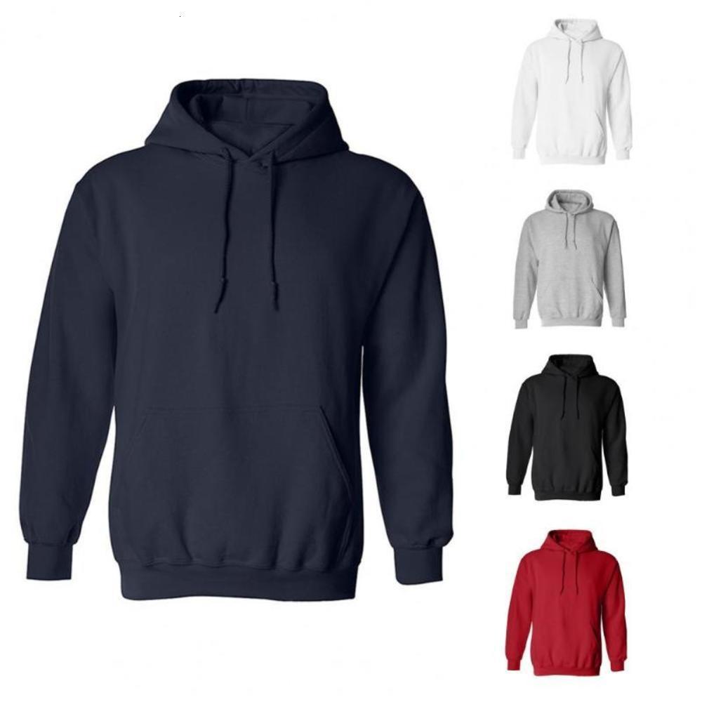 Sweats à capuche occasionnels Style de mode à manches longues Sports solides Sweat Sweat Sweat Sweat-shirt Athlétique avec poche pour hommes