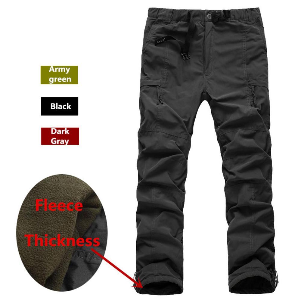 Зимний двухслойный мужской грузовой груз теплый толстый флис мешковатые брюки хлопковые брюки для мужчин мужской военный камуфляж тактический