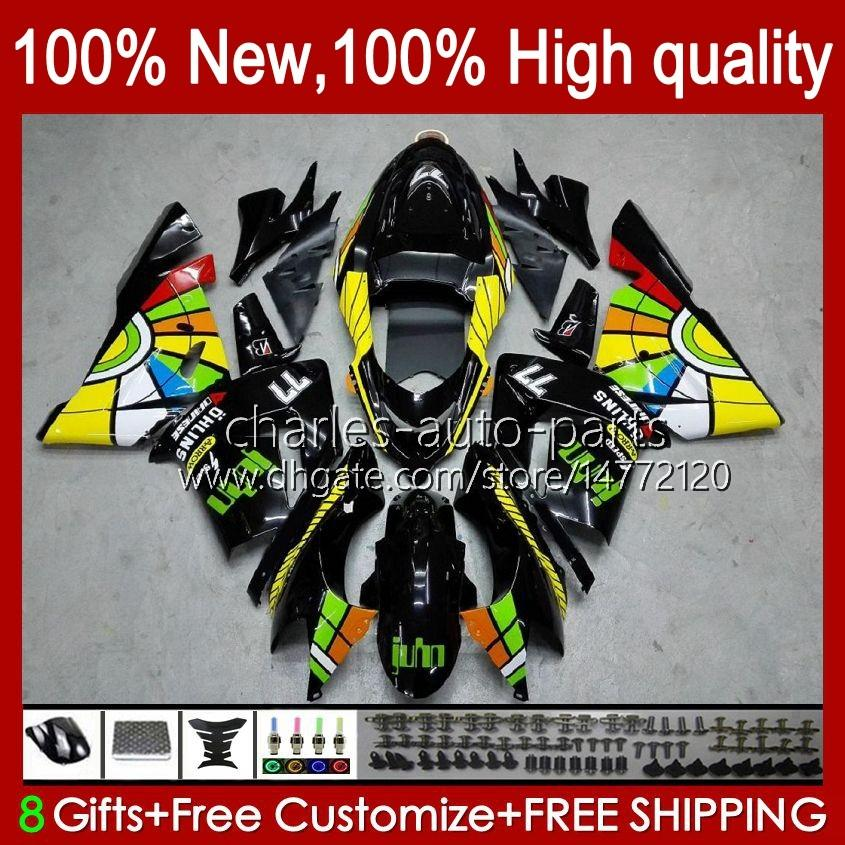 바디 키트 OEM Kawasaki Ninja ZX1000C ZX 10 R 1000 CC ZX1000 04-05 Bodywork 9no.6 zx 10r 1000cc zx10r 04 05 zx-10r zx1000cc 2004 2005 오토바이 페어링 낙서 광택