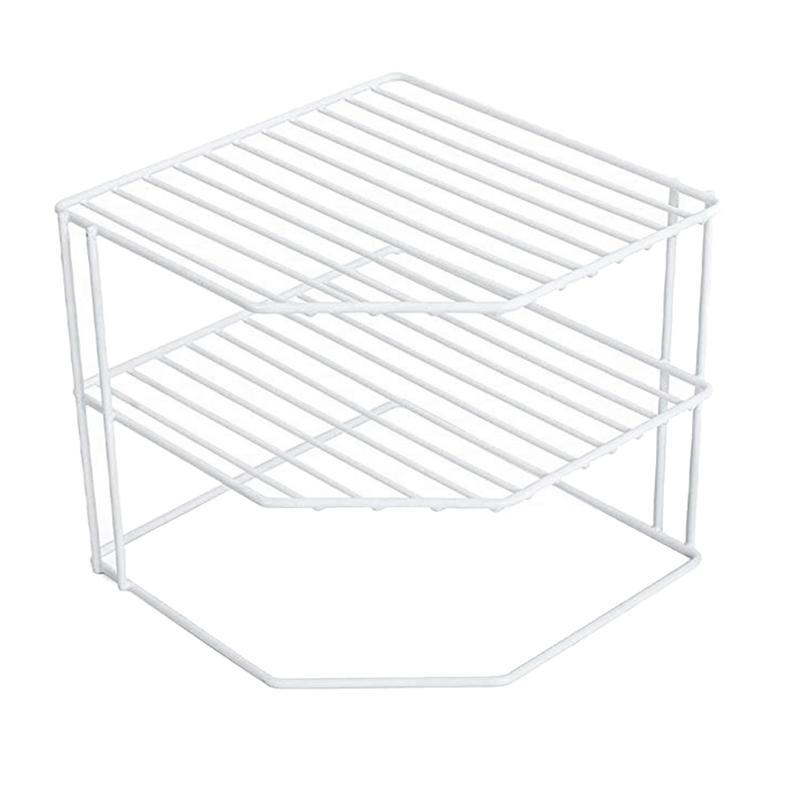 3-Tier Kitchen Corner Shelf Rack-Metal Frame-Rust Resistant Finish-Cups, Dishes, Cabinet & Pantry Organization-Kitchen (9 X 8 In Storage Org