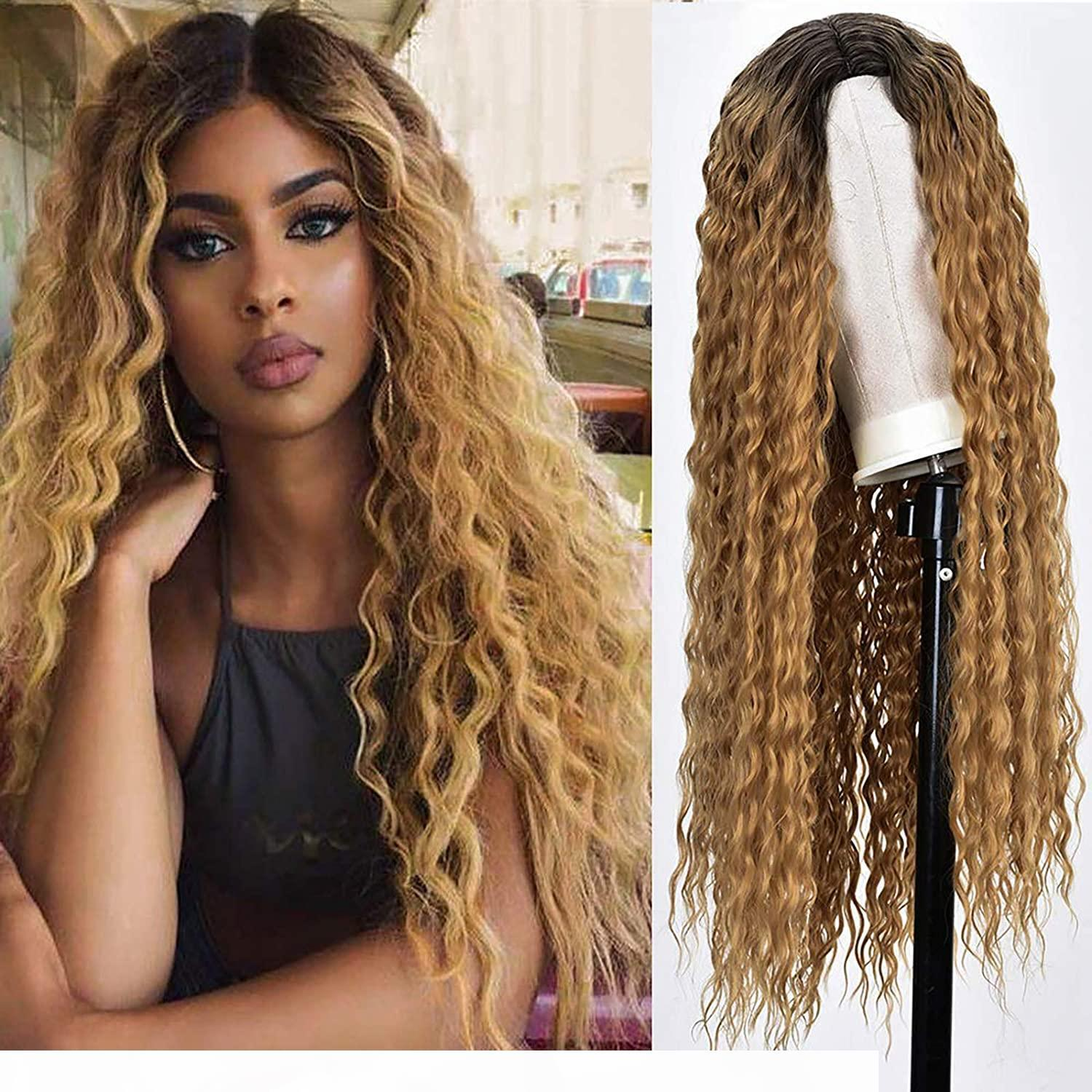 Ombre Might WIG Perruque Brown Honey Blonde Couleur Curly HD Entier Dentelle Avant Human Hair Perruques Centrales Straight 360 Dentelle Perruque Frontale Remy