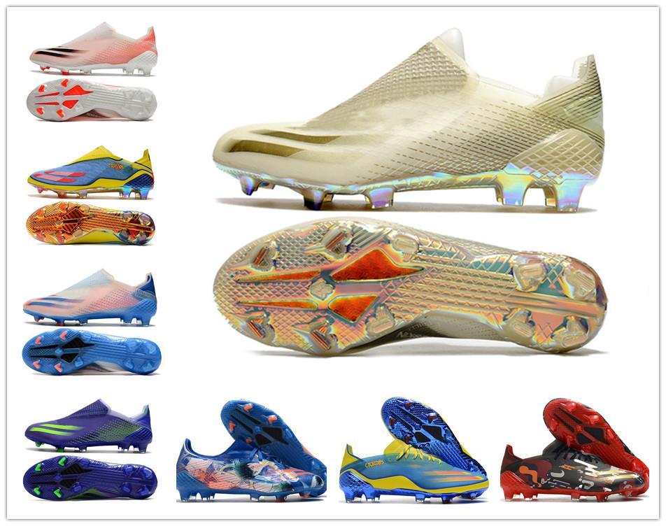 2021 Orijinal Yeni X Ghosted.1 FG Erkek Kadın Erkek Ghosted .1 Dantel-up Futbol Futbol Ayakkabı Futbol Botları Futbol Kelepleri