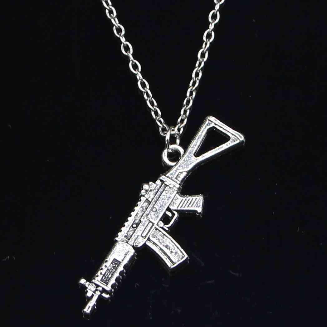 Collier Mode 45x13mm Machine d'assaut Pendentifs Pendentifs Courtes Femmes Femmes Hommes Colar Cadeau Bijoux Choker