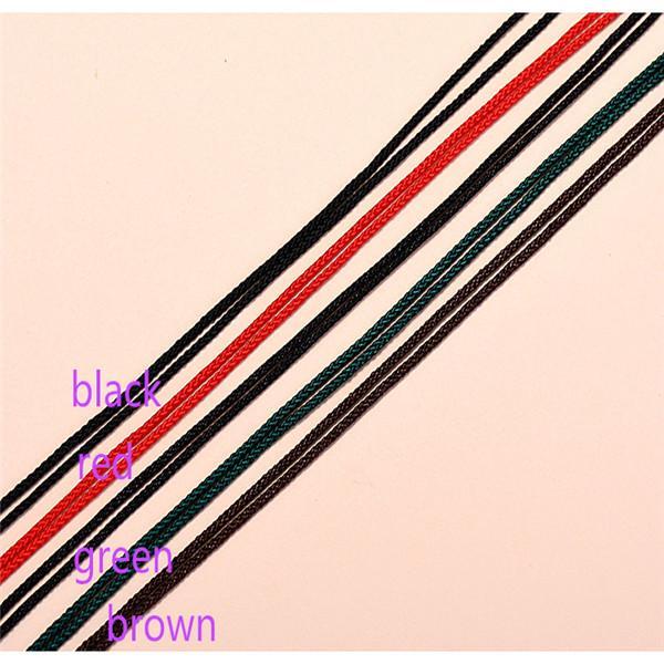 Cordon de bijoux bricolage Pendentif corde noir Brown Red Green Accessories