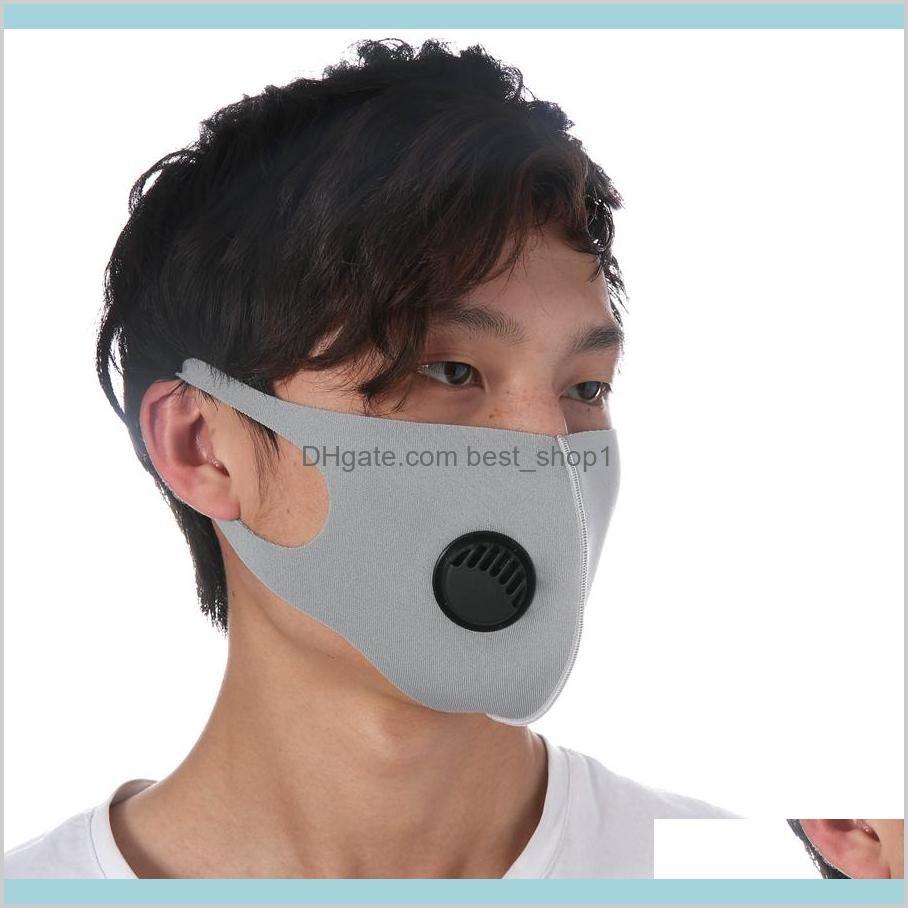 Accueil Jardin Organisation Ménage Masques Masques Ice Silk 5 Couleurs Face anti-poussière PM25 Réutilisable Couvercle coupe-vent avec Releather Ljjo BFS5H