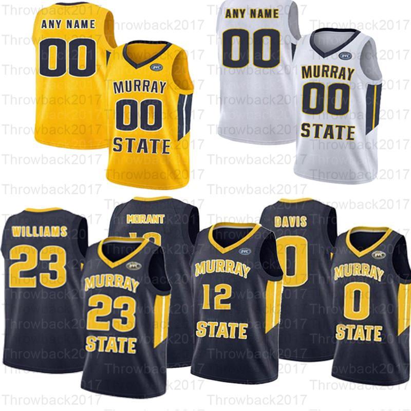 كرة السلة مخصص Murray State Jerseys 12 Morant 10 Tevin Brown 23 KJ Williams 2 Chico Carter Jr. 14 Jaiveon Eves 1 سميث